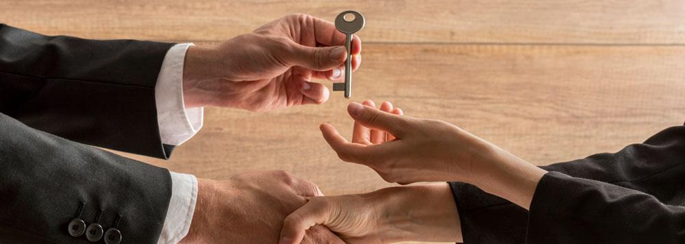 hand over keys new home
