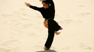 Pentcak Silat on the beach at the Asian Beach Games