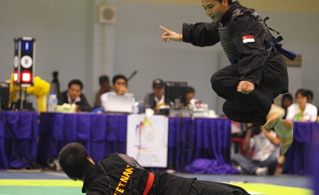 A Silat tournament in Singapore