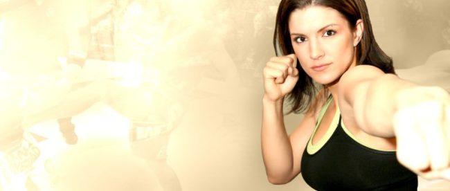 Gina Carano posing