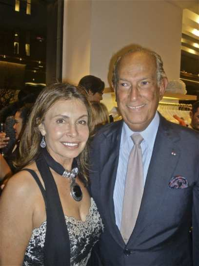 Irene Michaels and Oscar de la Renta