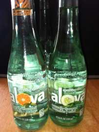all-natural Alova sparkling aloe vera beverage