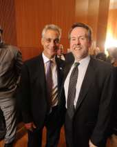 Mayor Rahm Emanuel and Lane Alexander (Founder and Artistic Director, Chicago Human Rhythm Project)