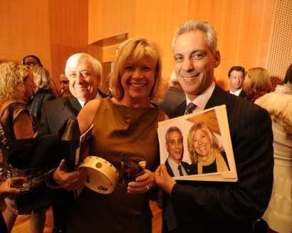 Steven Schwab, Nancy Schwab and Mayor Rahm Emanuel