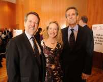 Lane Alexander (Founder and Artistic Director, Chicago Human Rhythm Project), Patti White (Chicago Cares) and Paul Boulis (former President, Blue Cross Blue Shield of Illinois)