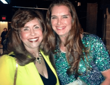 """Sharyn Weintraub & Brook Shields attending the after party of """"Still Laughing"""", a benefit sponsored by Gilda's Club in Bergen County, NJ."""