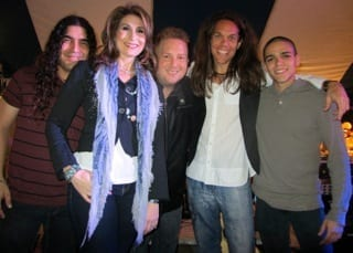 Stirling Road, South Florida's premier pop-rock group, rocked the Hard Rock Hotel in Hollywood, Florida in a concert featuring (center) lead singer Sherry Michelle & writer/musician Matthew Shad Second Row (L-R)