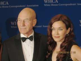 Sir Patrick Stewart (Star Trek) and wife Sunny Ozell