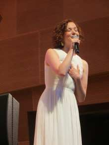 Rebecca LaChance performing a song from Beautiful - the Carole King Musical