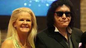 Sheila Lamb and Gene Simmons