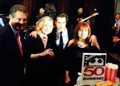 Marc Schulman, Liv Ullman, Colin Farrell, and Maureen Schulman