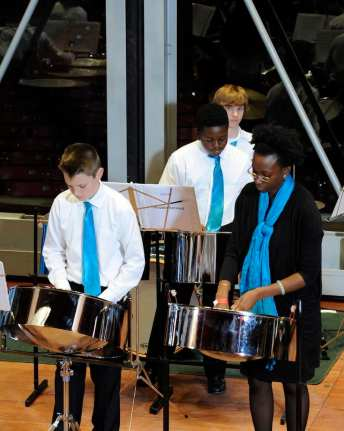 Chicago Youth Symphony Orchestras Steel Orchestra directed by Malika Coletta - photo by Jennifer Wolfe