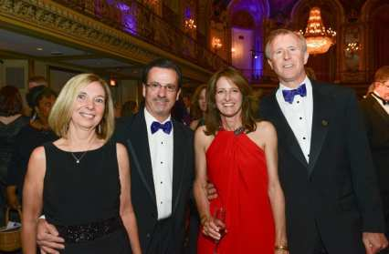 Kevin Peacock, Jill Lund, Susan and Jim Draddy (Hinsdale -- Co-chairs of the event)