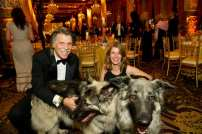 J. Patrick Welch and Maia Mosillo with dogs Taz and Willow