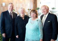 Terry and Jill Isselhard with Judy and Ray McCaskey, of the Chicago Shakespeare Board of Directors. Photo by JLauryn Photography.