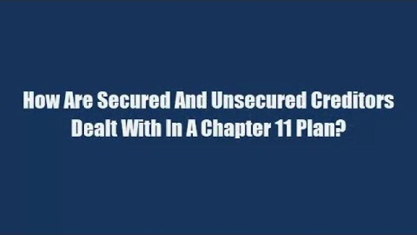 What Happens to Secured Debt in Chapter 11