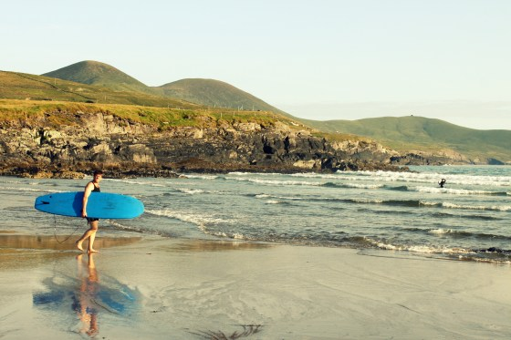At around 9pm you could still find locals out enjoying the sunshine and surf on St. Finan's Bay