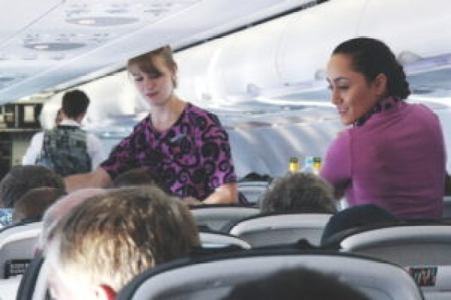 Air New Zealand flight attendants