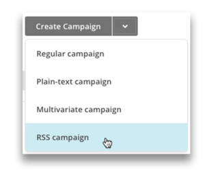 How to create an RSS with mailchimp