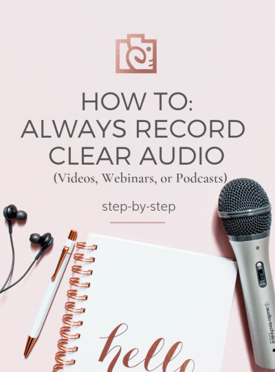 How to record clear audio (for videos, podcasts, or webinars)