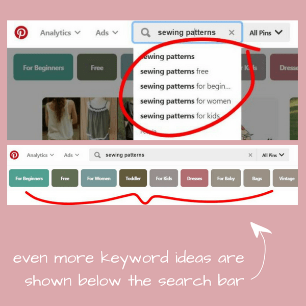 Step 3. Continue clicking each one of those colorful suggested words until you have seen and come up with a large number of keyword terms and ideas.