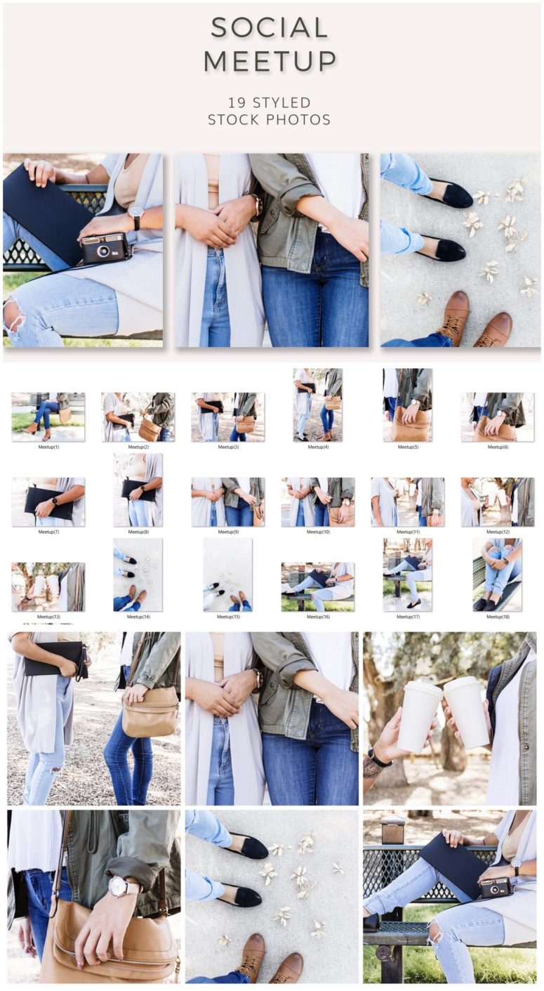 Stock Photos for social media | Inspired by influencers and the Social Meetup from ivory mix