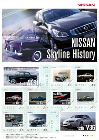nissan_skyline_history_postage_stamps