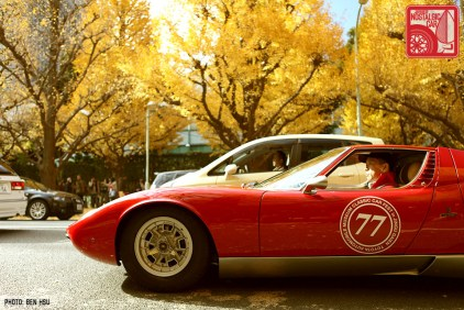 Not Japanese: The owner of this Lamborghini Miura revved constantly to keep it from stalling.