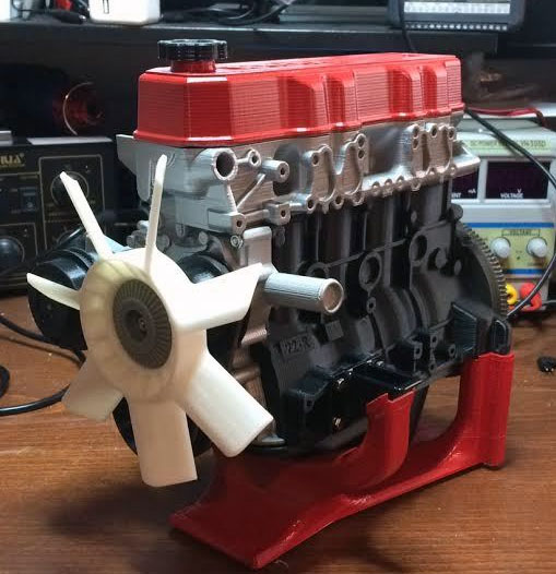 Minicars Complete 3d Printed Toyota 22re Engine And W56