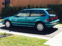 1991 Honda Civic Si Tahitian Green 80