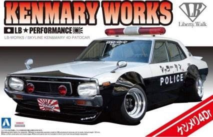 Aoshima Nissan Skyline C110 Kenmeri Liberty Walk Shakotan Police model kit