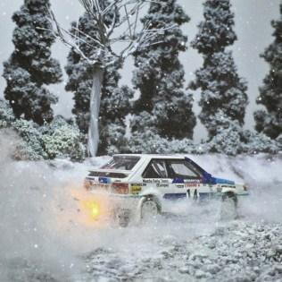 Takupon0816_Mazda Familia 323 GTX 1986 Monte Carlo Rally diorama