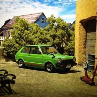 Takupon0816_Toyota Starlet KP61 1978 diorama