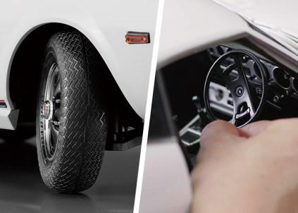 Hachette Toyota Celica Liftback 2000GT model kit steering