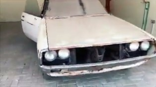 Kuwait Nissan Skyline KGC110 Kenmeri restoration before