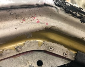 Mazda RX7 254i gold pink paint