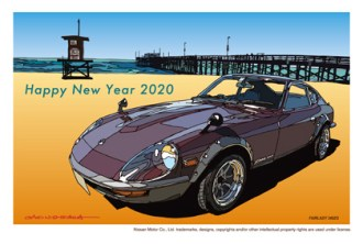 Japan Post Nissan FairladyZ 240ZG nenga postcard S30Z