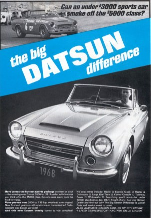 us1968 DatsunFairladyRoadster2000 big difference ad