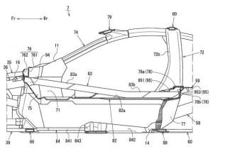 Mazda Sports Coupe patent drawing cabin profile