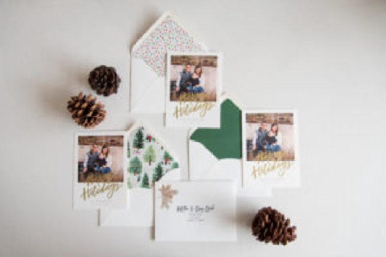 holiday card envelope liners