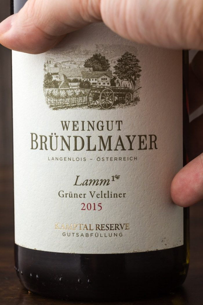 """The other strong contender for the title of the best Grüner Veltliner wine: Weingut Bründelmayer's """"Lamm."""" Here too, 2015 was an exceptional year."""