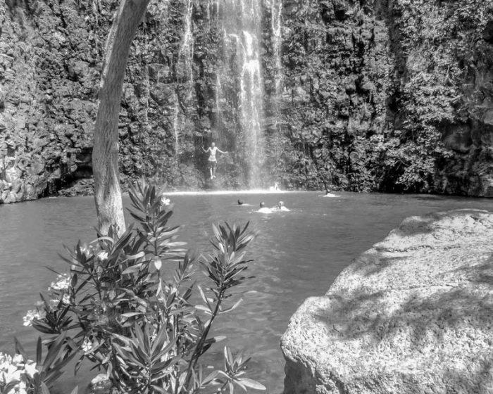 Swimming at the Devora Waterfall