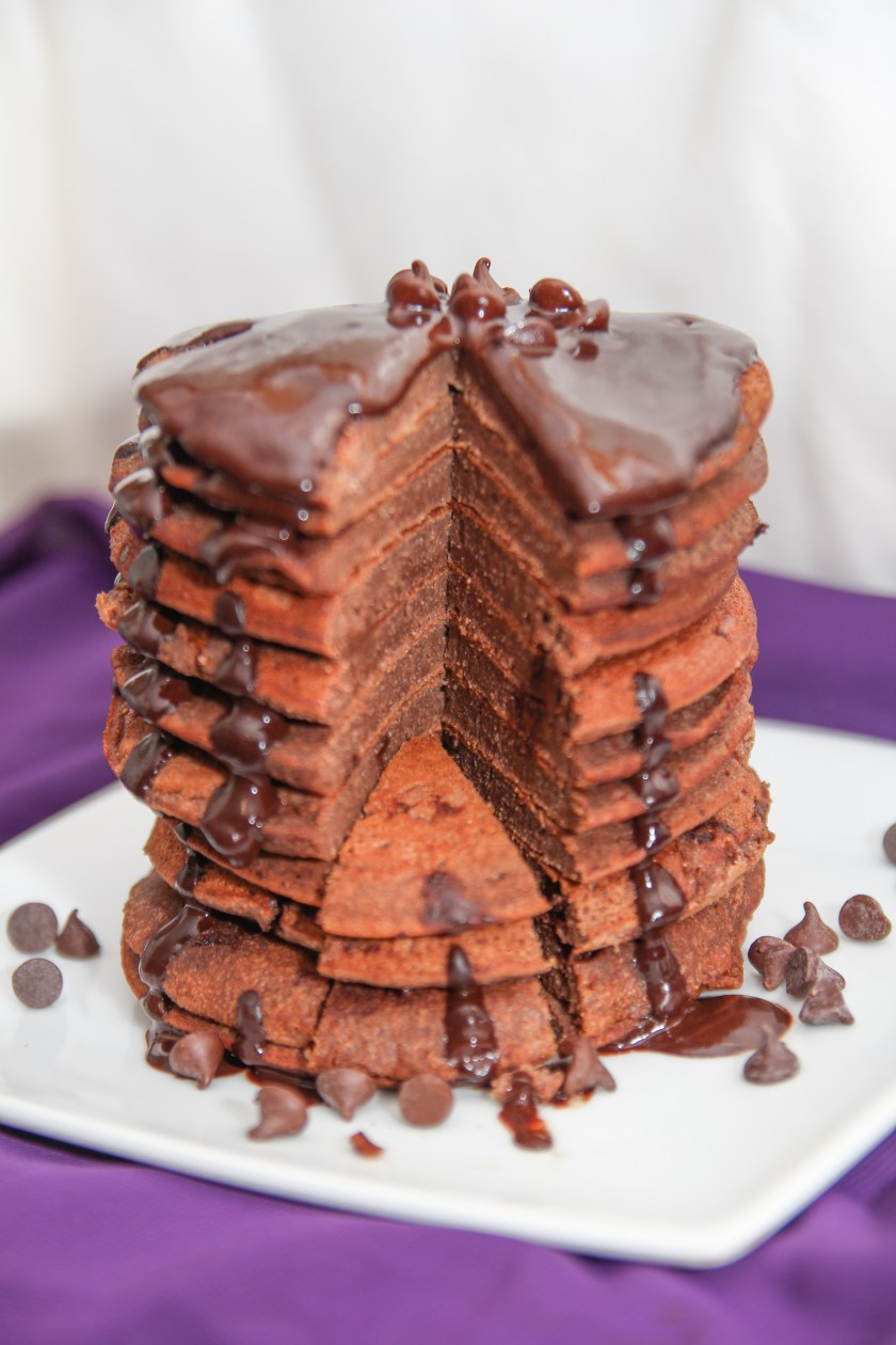 Healthy Chocolate Pancakes: No blender required!