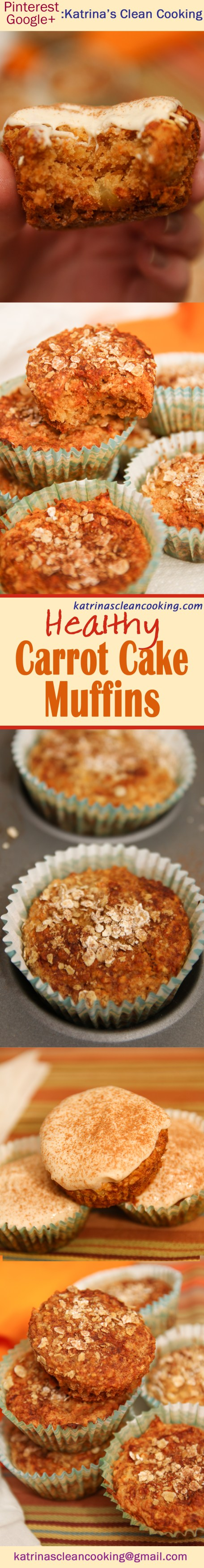 Healthy Carrot Muffins with cream cheese frosting #healthy #carrot cake #healthy #muffins #cupcakes