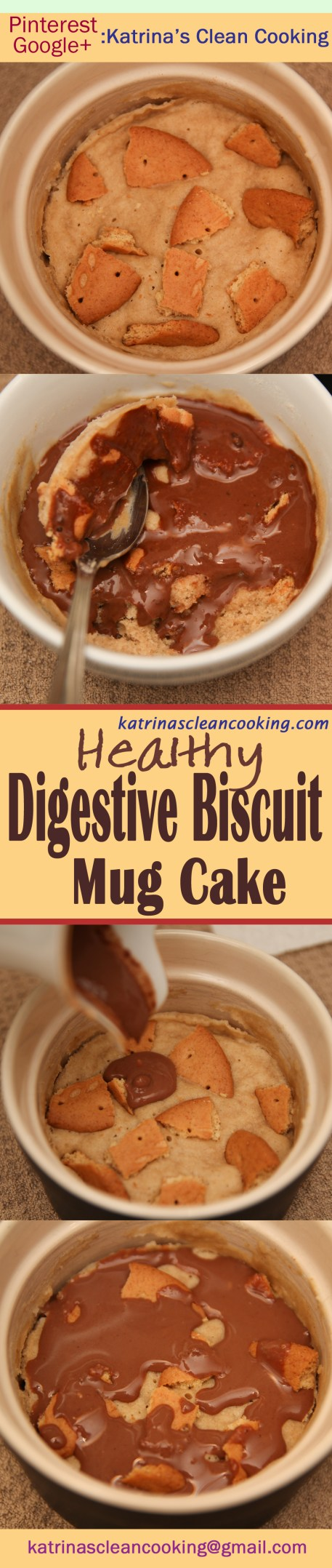 Healthy Digestive Biscuit Mug cake #Healthy #MugCake #5ingredients