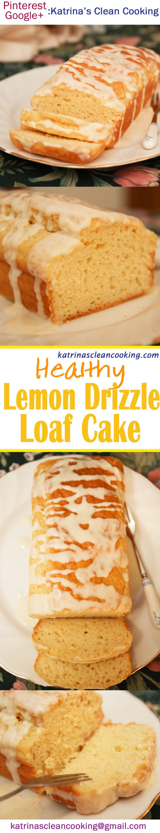 Healthy Lemon Drizzle Loaf Cake #healthy #lemoncake #glutenfree #refinedsugarfree