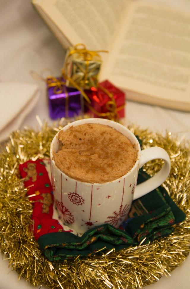 Healthy Snickerdoodle Mug Cake #healthy #mugcake #christmas #vegan #glutenfree #refinedsugarfree