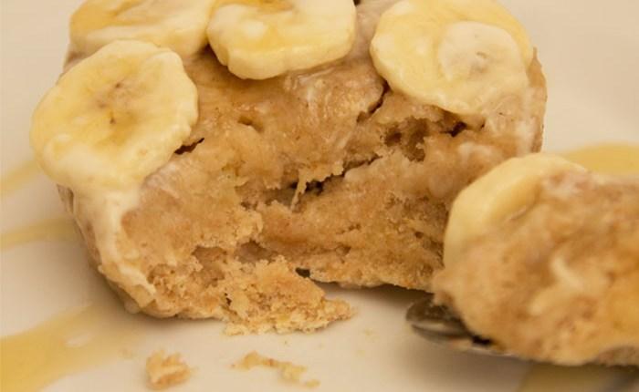 Healthy Banoffee Mug Cake #healthy #banana #glutenfree #refinedsugarfree
