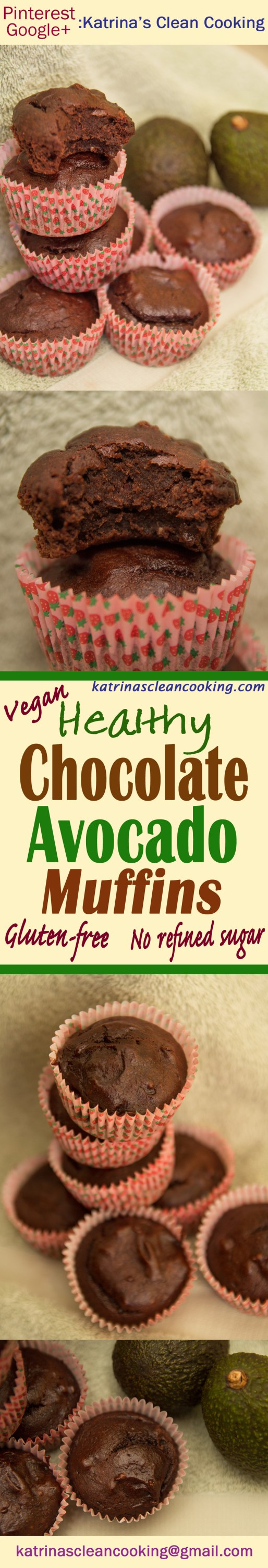 Healthy Chocolate Avocado Muffins #healthy #wholewheat #glutenfree #refinedsugarfree #avocado
