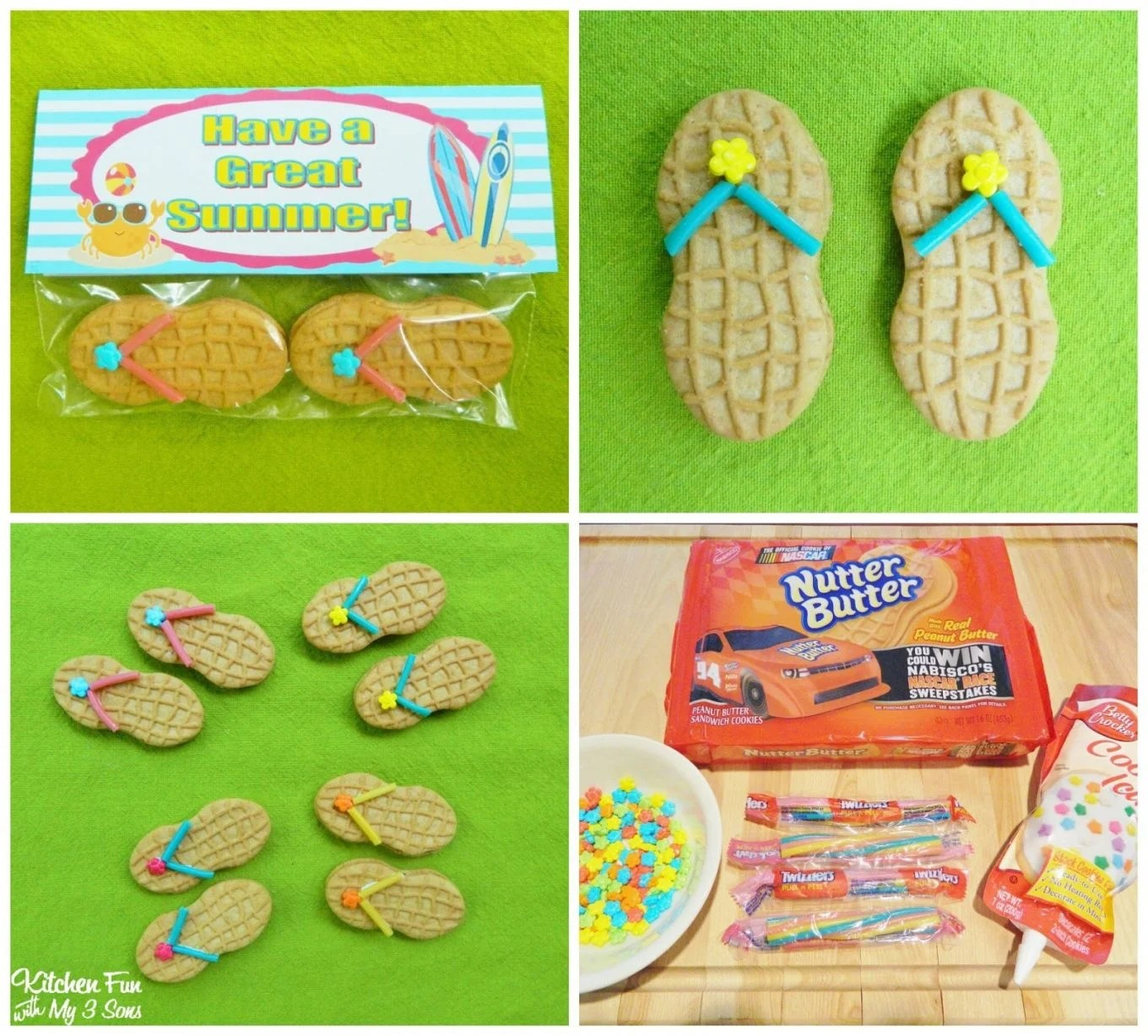 Flip Flop Cookies With A FREE Have A Great Summer